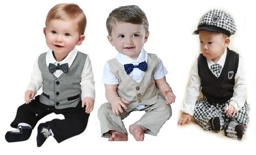 Baby Boy Dress Clothes for Those Special Occasion There are days when you have to tuck away the casual clothes and pull out those snazzy dress clothes. Fill your son's closet with vest and pant sets or mix and match separates from JCPenney exclusive brands and your favorite brands like Carters, Burt's Bees, Disney, and IZOD.